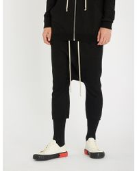 Rick Owens - Dropped-crotch Cashmere Shorts - Lyst