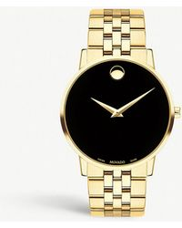 Movado - Museum Classic Gold-plated Stainless Steel Watch - Lyst