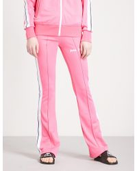 Palm Angels - Side-stripe Flared Jersey Jogging Bottoms - Lyst
