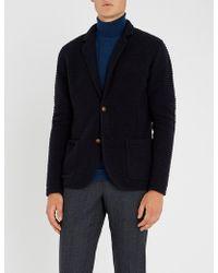 Eleventy - Single-breasted Wool-blend Jacket - Lyst