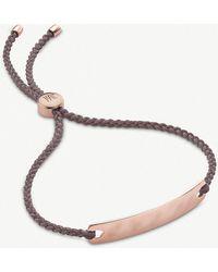 Monica Vinader - Havana 18ct Rose-gold Vermeil Mini Friendship Bracelet - Lyst