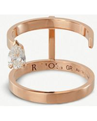 Repossi - Sertie Sur Vide 18ct Pink-gold And Diamond Ring - Lyst