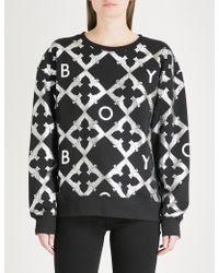 BOY London - Echo Eagle-print Cotton-jersey Sweatshirt - Lyst