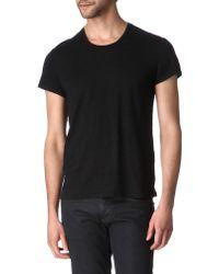 Sandro - Crewneck Linen-jersey T-shirt - Lyst