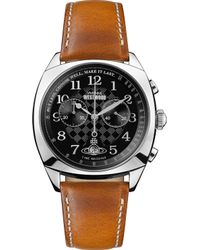 Vivienne Westwood - Vv176bktn Hampstead Stainless Steel And Leather Chronograph Watch - Lyst
