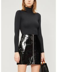 GOOD AMERICAN - High-neck Ribbed Jersey Body - Lyst