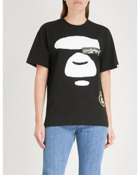 Aape - Printed Cotton-jersey T-shirt - Lyst