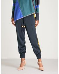 Peter Pilotto - Side-stripe Relaxed-fit Satin Trousers - Lyst
