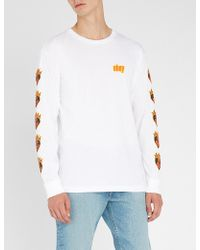 Obey - Be Mine Printed Cotton-jersey Top - Lyst