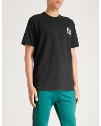 The Kooples - Embroidered-logo Cotton-jersey T-shirt - Lyst