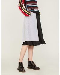5cm - Pinstriped Cotton-blend Skirt - Lyst