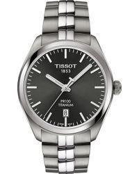 Tissot - T1014104406100 Pr100 Titanium Quartz Watch - Lyst
