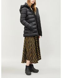 Burberry - Water Resistant Womens Black Check Limehouse Hooded Shell-down Puffer Coat - Lyst