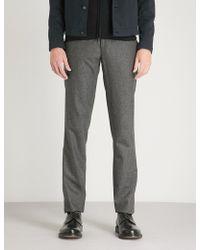 Slowear - Wool Flannel Slim-fit Trousers - Lyst