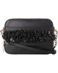 L.K.Bennett - Mia Floral Detail Leather Cross-body Bag - Lyst