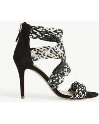 Sandro - Agate Suede Heeled Sandals - Lyst