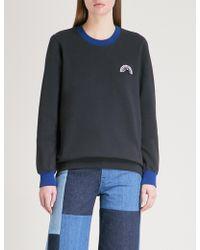 Markus Lupfer - Anna Embellished Cotton-jersey Sweatshirt - Lyst