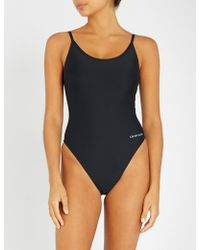 Calvin Klein - Core Neo Cheeky Swimsuit - Lyst