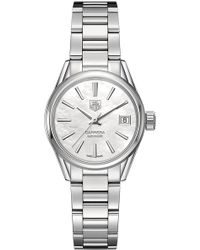Tag Heuer - War2411.ba0770 Carrera Stainless Steel And Mother-of-pearl Watch - Lyst