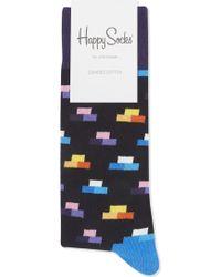 Happy Socks   Brick Pattern Cotton Socks   Lyst