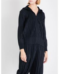 Pleats Please Issey Miyake - Fluffy Basic Pleated Hoody - Lyst