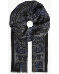 Etro - Paisley Print Wool-cashmere Scarf - Lyst