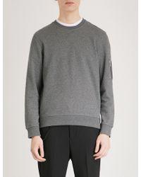 The Kooples - Zip-up Pocket Cotton-jersey Sweatshirt - Lyst