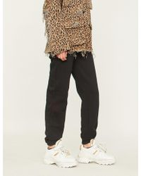 Stussy - Logo-print Cotton-blend Jogging Bottoms - Lyst