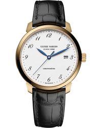 Ulysse Nardin - 8152-111-2/5gf Classico Rose-gold Watch - Lyst