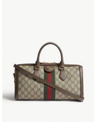 Gucci - Ladies Beige Ophidia Boston Gg Supreme Bowling Bag - Lyst