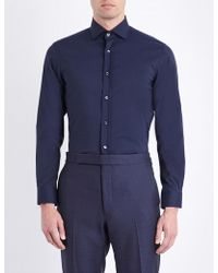 Ralph Lauren Purple Label - Bond Cotton Shirt - Lyst