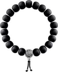 Thomas Sabo - Rebel At Heart Matte Obsidian Beaded Bracelet - Lyst