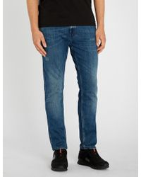 HUGO - Skinny-fit Tapered Jeans - Lyst