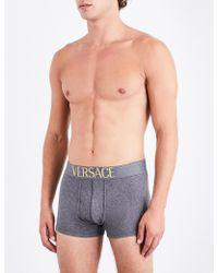 Versace - Apollo Slim-fit Stretch-cotton Trunks - Lyst