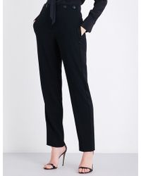Rag & Bone - Dagger Tapered High-rise Crepe Trousers - Lyst