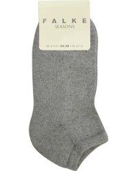 Falke - Cotton-cashmere Trainer Socks - Lyst