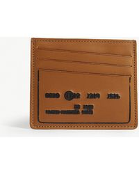 Maison Margiela - Embossed Numbers Leather Card Holder - Lyst