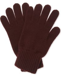 Johnstons - Mens Brown Ribbed Comfortable Cashmere Gloves - Lyst