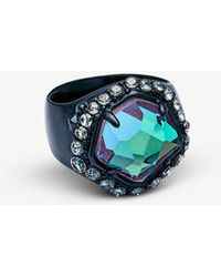 Kendra Scott - Schuyler Navy-gunmetal And Lilac Crystal Cocktail Ring - Lyst