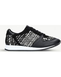Carvela Kurt Geiger | Lake Leather And Fabric Trainers | Lyst