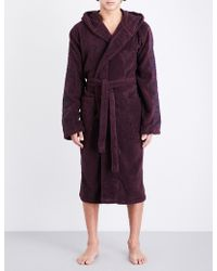 Emporio Armani | Hooded Towelling Dressing Gown | Lyst