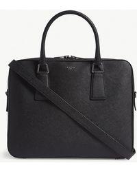 Sandro Black Downtown Saffiano Leather Briefcase