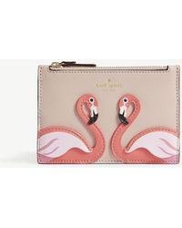 Kate Spade - By The Pool Marley Flamingo Leather Purse - Lyst