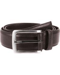 Dents - Textured Leather Belt - Lyst