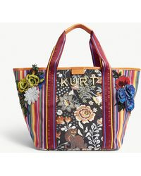 Kurt Geiger - Ladies Orange Floral Daisy Canvas Shopper - Lyst