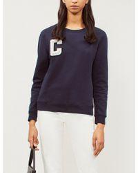 Claudie Pierlot - Faux Pearl-embellished Cotton-jersey Sweatshirt - Lyst
