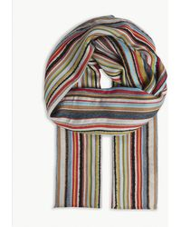 Paul Smith - Multi-stripe Wool-blend Scarf - Lyst