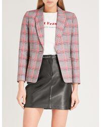 Claudie Pierlot - Checked Cotton-blend Blazer - Lyst