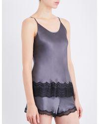 Nk Imode - Lace-detailed Silk-satin Pyjama Shorts - Lyst