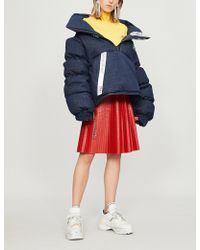 House of Holland - Quilted Denim Puffer Jacket - Lyst